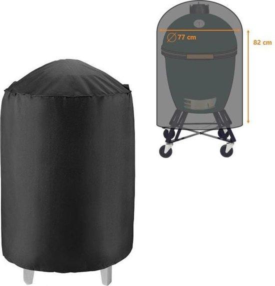 Waterdichte ronde BBQ hoes - 82 cm x 77 cm - Barbecue beschermhoes - BBQ accessoires - Geschikt voor o.a. Kamado, Big Green Egg, Grill Guru, The Bastard, Patton - Vaderdag cadeautje