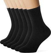 Zwarte Sokken Heren & Dames Maat 39/42 - 6 Paar - Geschikt voor Casual, Business, Sport en Vrije Tijd
