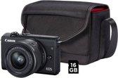 Canon EOS M200 + 15-45mm IS STM - Zwart - Inclusief Cameratas + SD-kaart