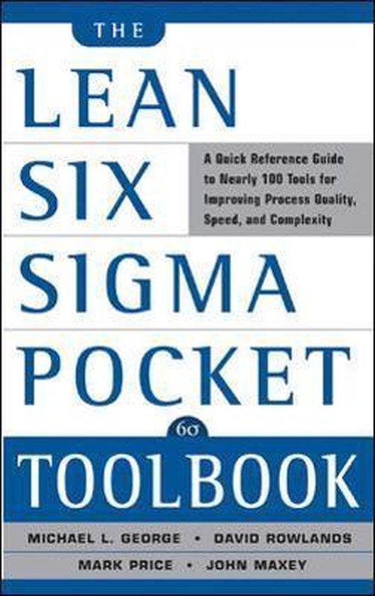 Boek cover Lean Six Sigma Pocket Toolbook van Michael George (Paperback)