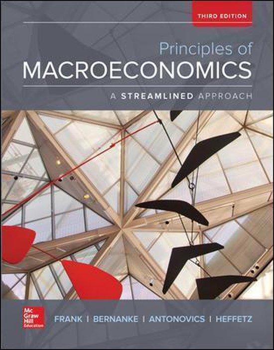 Boek cover Principles of Macroeconomics, A Streamlined Approach van Robert Frank