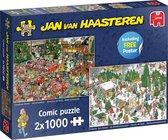 Jan van Haasteren Christmas Gifts puzzel - 2x1000 stukjes - Multicolor
