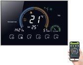 Wetrust Smart thermostaat, wifi, temperatuurregelaar, lcd-gasketel-verwarming-thermoregulator met uv-index, vochtweergave, vergrendelfunctie, compatibel met Amazon Echo  & Google Home