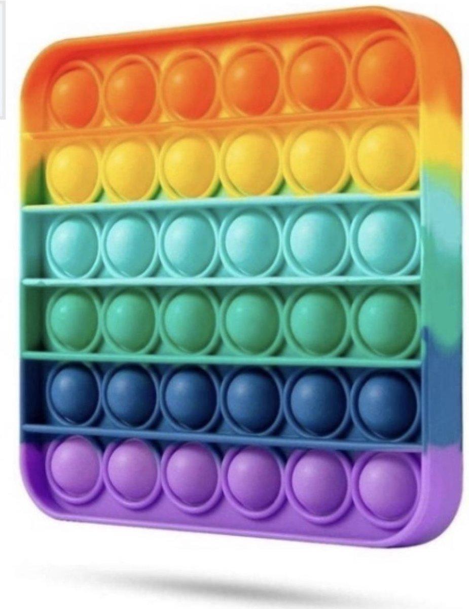 Fidget Toy Pop It Rainbow - Anti Stress Speelgoed - Fidget Pad - Merkloos