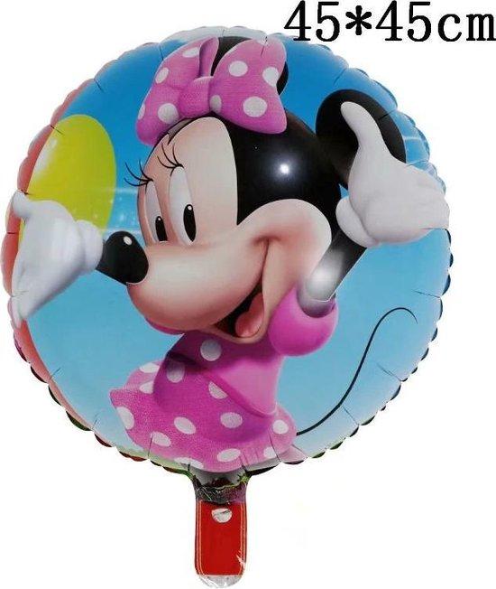 Mickey Mouse Ballon Disney Met Rietje,Helium Ballonnen ,Verjaardag Decoratie Ballon 45cmx45cm & Straw