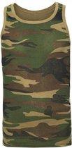 Camouflage tanktop voor heren XS