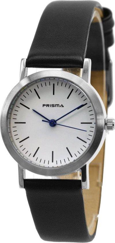 Prisma Dameshorloge P.1236 Lederen band Zilver