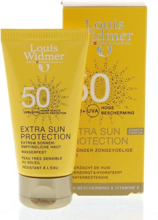 Louis Widmer Extra Sun Protection Zonder parfum Zonnecreme SPF50 - 50 ml
