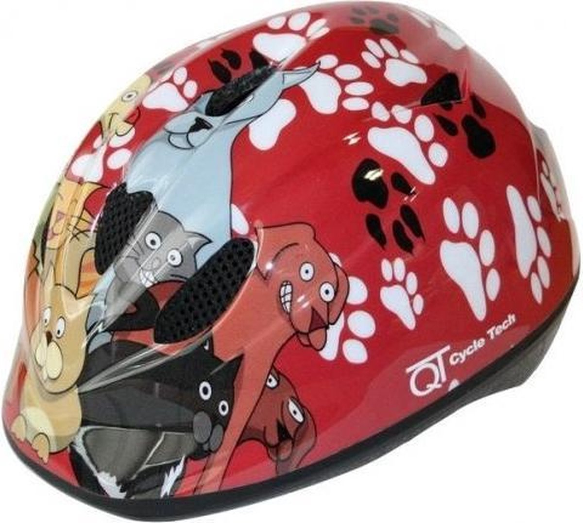 Cycle Tech helm Cats/Dogs rood maat 46/52 cm