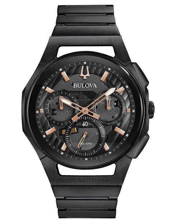 Bulova CURV 98A207 Horloge - Staal - Zwart - Ø 41 mm
