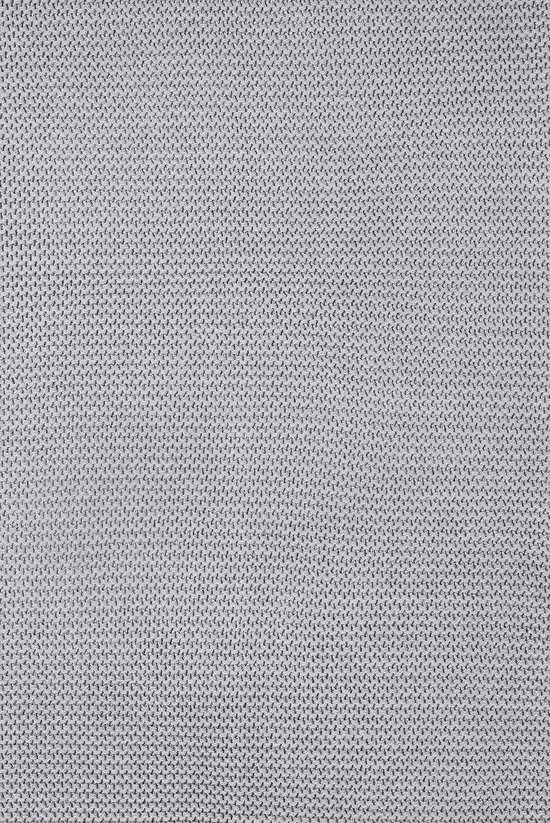 Deken 75x100cm Basic knit stone grey