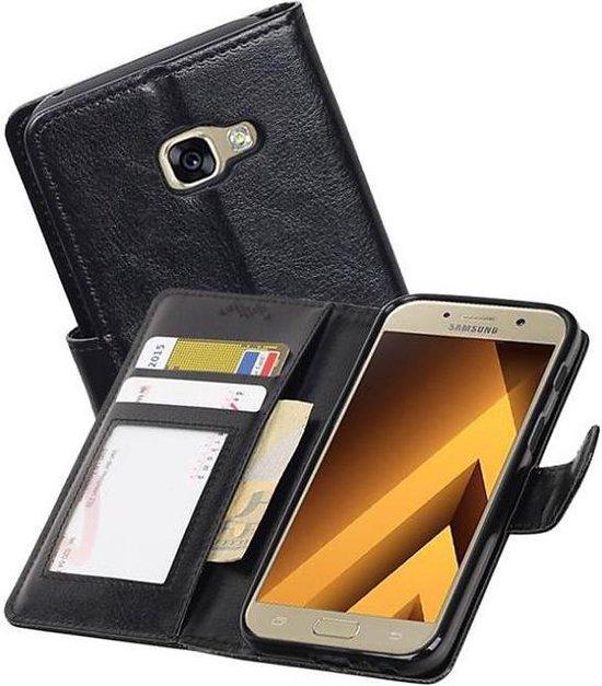 Samsung Galaxy A3 2017 Portemonnee Hoesje Booktype Wallet Case Zwart