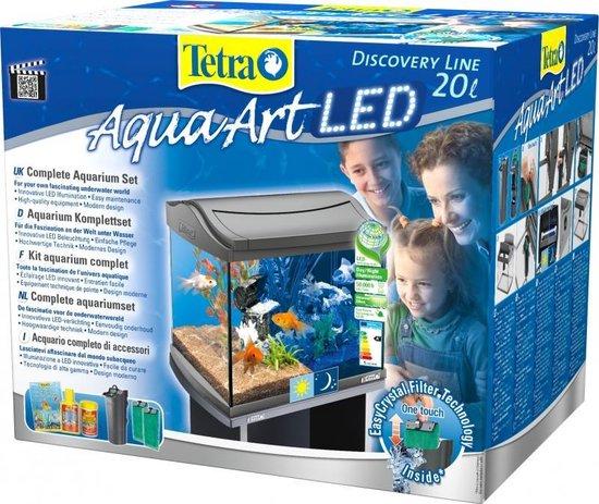 Tetra AquaArt LED Aquarium - 30x30x30 cm - 20L - Antraciet