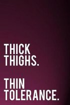 Thick Thighs Thin Tolerance