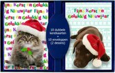 50 stuks dubbele Kerstkaarten - Nieuwjaarskaarten met envelop | 5 pakjes |