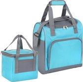 Basis Sterke Koeltas Set | 25 + 10 Liter Coolerbag | Blauw