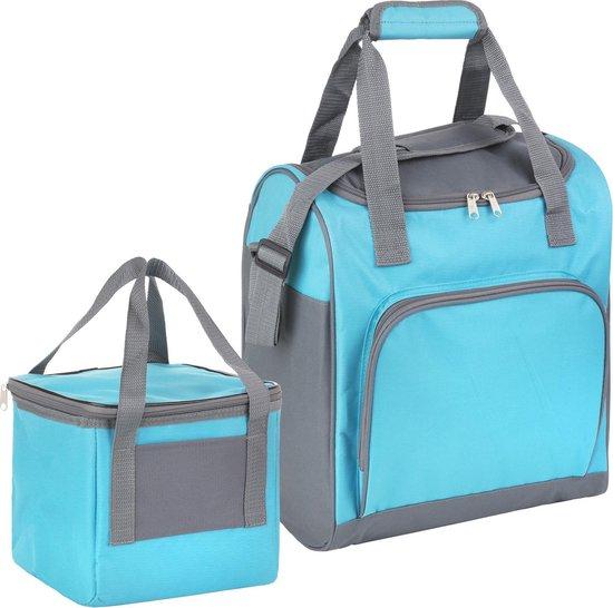 Basis - Sterke koeltas set - 25 + 10 Liter - Coolerbag Blauw