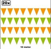 20x Vlaggenlijn groen en oranje 10 meter