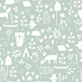 Little Dutch - Behang kinderkamer - Adventure Mint - groen - 53cmx10m