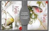 50 stuks Kerstkaarten - Nieuwjaarskaarten - Natuur afbeeldingen - met envelop   5 pakjes   serie 15 - 8