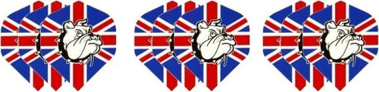 3 sets (9 stuks) Dragon darts Britse vlag bulldog dart flights – darts flights