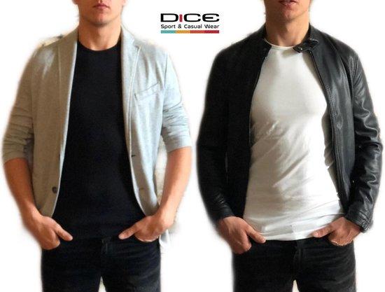2-pack Dice Heren T-shirt V-hals Gemêleerd Grijs+wit In Maat Xl