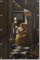 De liefdesbrief   Johannes Vermeer   ca. 1669 - ca. 1670   Kunst   Tuindoek   Tuindecoratie   60CM x 90CM   Tuinposter   Spandoek   Oude meesters