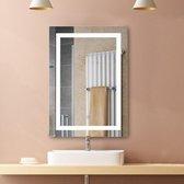 Luxe Badkamer Spiegel Met LED Verlichting - Badkamer Wandspiegel - Verlichte Badkamerspiegel - Touch Sensor - 60x80 CM Groot