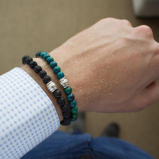 FortunaBeads Basic Chrysocolla Armband – Heren – Natuursteen – Large 20cm - FortunaBeads