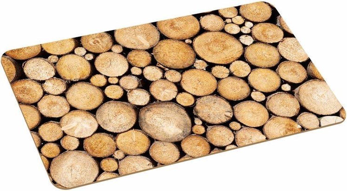 Placemat met boomstronk print 44 x 28 cm - Merkloos