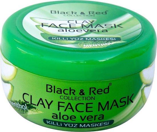 Black & Red Klei Gezichtsmasker - Aloe Vera 400gr