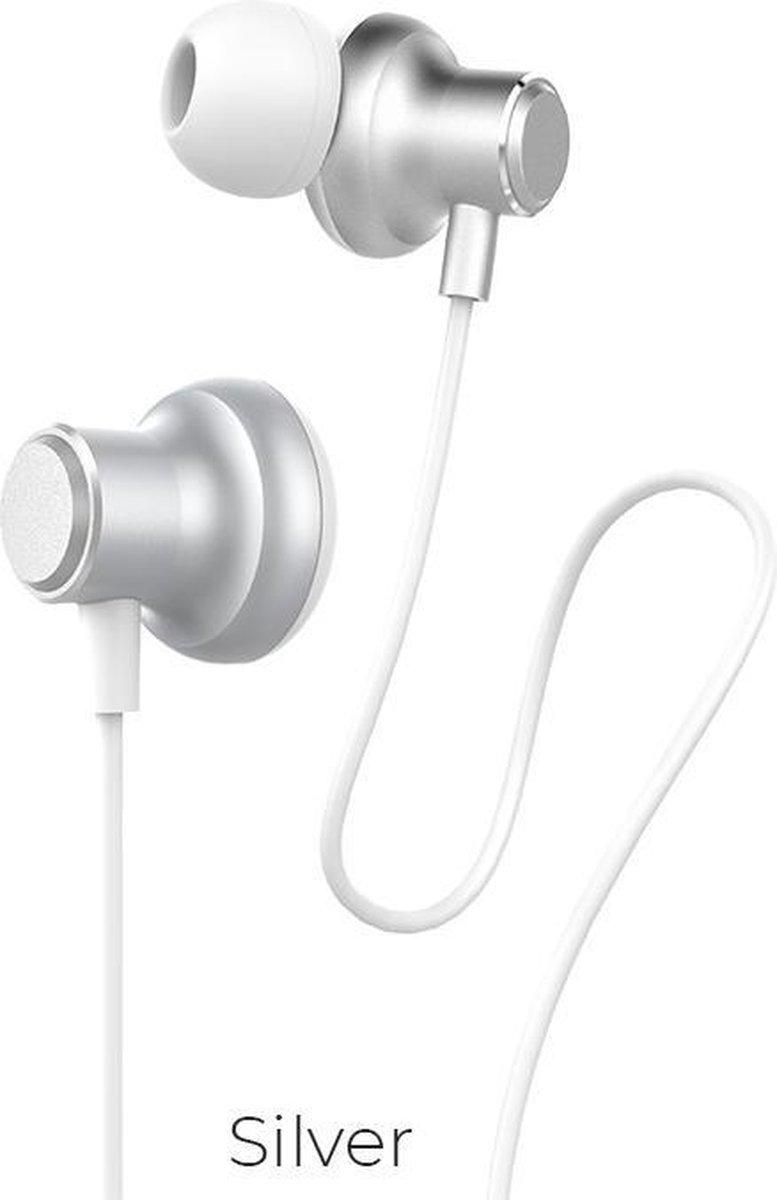 Hoco – in ear oordopjes – Oortjes met draad en microfoon – Wit
