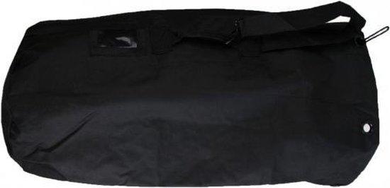Grote duffel bag/plunjezak zwart 90 cm - Duffel tassen voor op reis