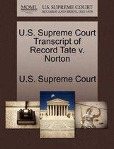 U.S. Supreme Court Transcript of Record Tate V. Norton