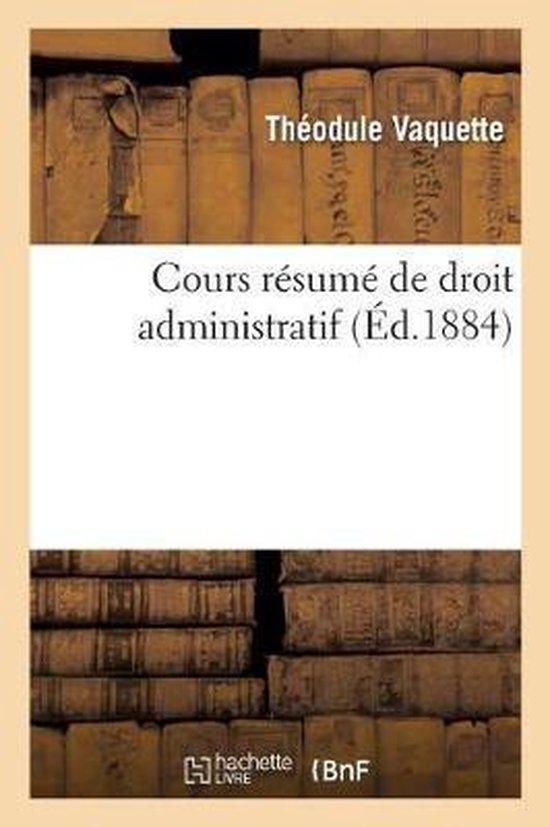 Cours resume de droit administratif