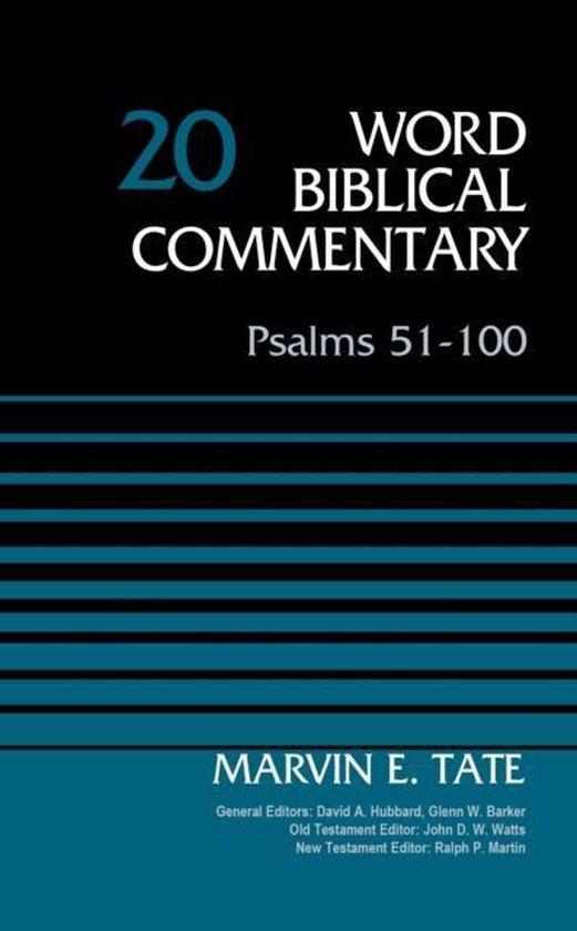 Boek cover Psalms 51-100, Volume 20 van Marvin Tate (Hardcover)