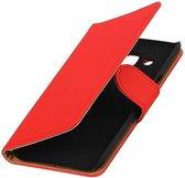 Samsung Galaxy J2 Hoesje Effen Bookstyle Rood
