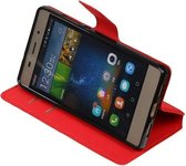 BestCases.nl Rood Huawei P8 Lite TPU wallet case booktype hoesje HM Book