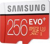 Samsung Evo+ 256 GB Micro SD kaart - met adapter