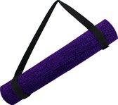 Yog Guru Yoga Mat Draagriem - 100% Katoen - Klittenband sluiting - Zwart
