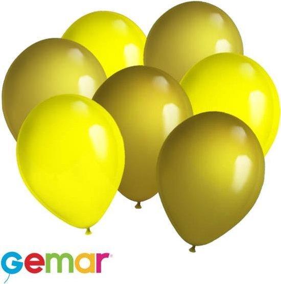 30x Ballonnen Goud en Geel (Ook geschikt voor Helium)