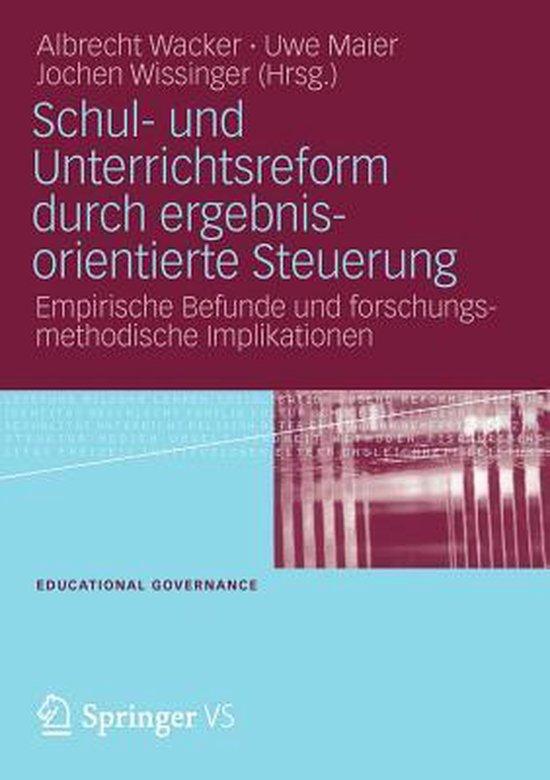 Boek cover Schul- Und Unterrichtsreform Durch Ergebnisorientierte Steuerung van Albrecht Wacker (Paperback)