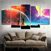 Rick and Morty Galaxy Wand Decoratie | 5 Canvas Panels