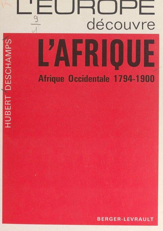 Boek cover LEurope découvre lAfrique van Hubert Descamps (Onbekend)