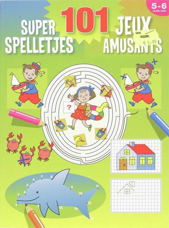 Cover van het boek '101 super spelletjes (5-6 j.) / 101 jeux amusants (5-6 a.)' van  Znu