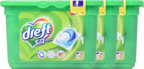 Dreft 3in1 Pods Wasmiddel Capsules - 3 x 16 Wasbeurten (48) - Voordeelverpakking