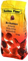 Golden Flame - Houtskool Briketten - 2 kg