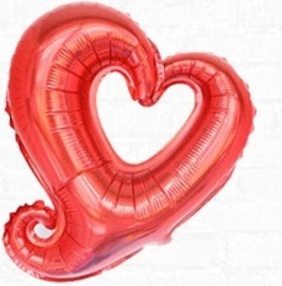 Set van 2 stuks Folie ballonnen Fantasy Hart - 45 cm - rood