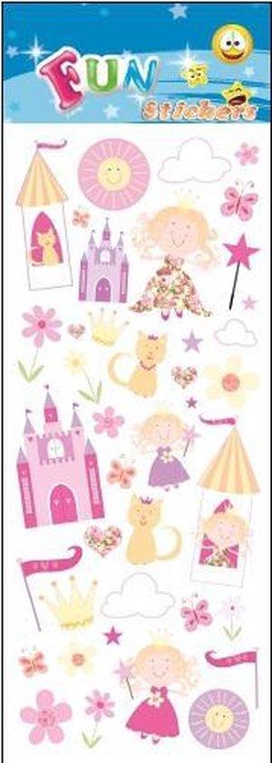 Stickervel prinsessen