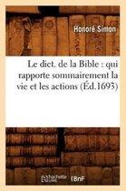 Le Dict. de la Bible